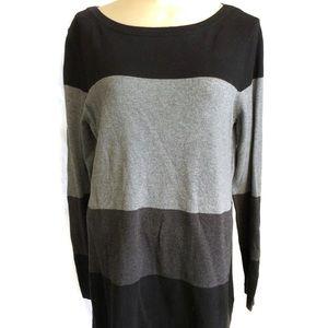 Ann Taylor loft color block sweater L